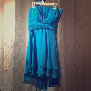 Cindy - Blue Halter Short Formal Party Dress